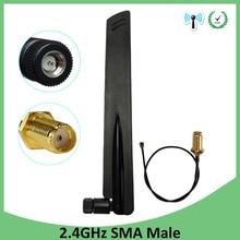 купить 10pcs wholesale 2.4GHz Antenna wifi antenna 8dBi SMA Male Connector 2.4 ghz antena +21cm RP-SMA to ufl./ IPX 1.13 Pigtail Cable по цене 1834.09 рублей