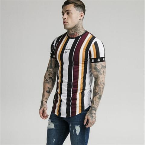 2019 New Mens Summer Sporting Running T-Shirt Fitness Bodybuilding Shirts Men Short Sleeves Slim Cotton Tees Gyms Clothes Karachi