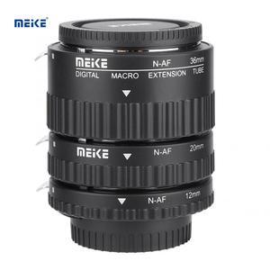 Макрообъектив Meike с автоматической фокусировкой, удлинитель для камеры 12 мм + 20 мм + 36 мм, крепление для Nikon F DSLR, аксессуары для камеры
