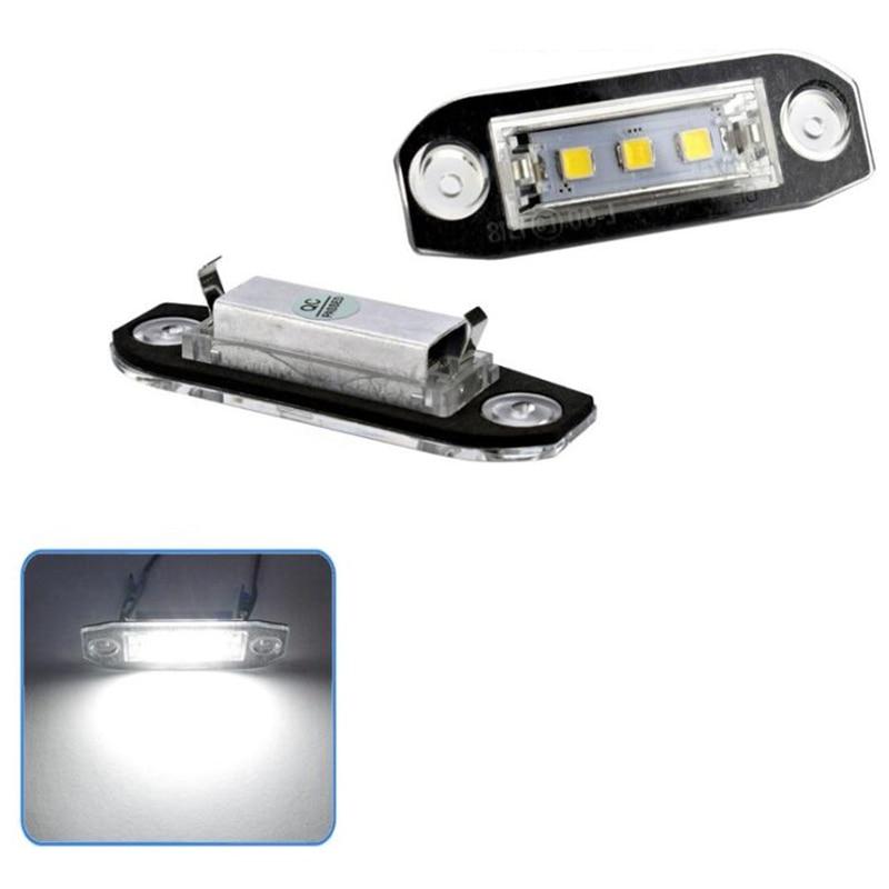 2Pcs Led License Plate Light For Volvo S80 Xc90 S40 V60 Xc60 S60 C70 V50 Xc70 V70