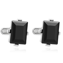 Classic men's new black box Cufflinks Cufflinks French wedding dress shirt accessories 1 double free shipping