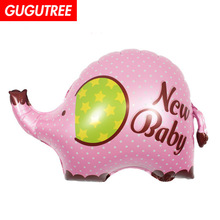 Decorate 80x56cm Pink Green Elephant Foil Balloons Wedding Event Christmas Halloween Festival Birthday Party HY-311