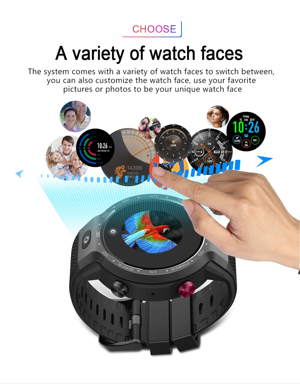 TORNTISC Z30 Dual Systems 4G Smart Watch phone Android 7.1 5MP Front Camera 600Mah Battery Support GPS WIFI Heart Rate Smartwatch PK LEM9 Presale (14)