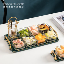 OSBORN Light-plato de cerámica creativa para golosinas de fruta deshidratada, servicio de aperitivos, bandeja para servir Tapas, frutos secos, aceitunas