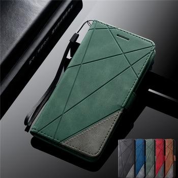 De cuero S7 S8 S9 S10 más S20 Ultra caso para Samsung Galaxy Nota 8 9 10 Lite A51 A71 A81 A91 A50 A30 S A40 A20 A10 cubierta