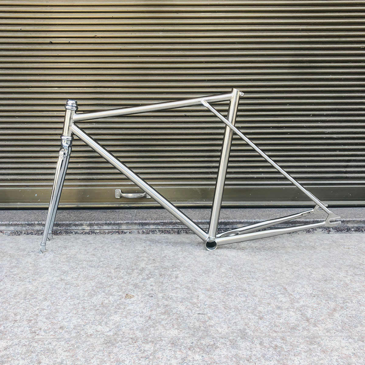 Geborsteld Zilver Vintager Fixie Bike Frame 700 C Frame 53 Cm 4130 Chroom-molybdeen Staal Road Fiets Frame Promotie