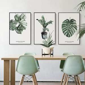 Decoration Picture Plant-Printing Green Without-Frame Home Hotel Stylish Gift Elegant