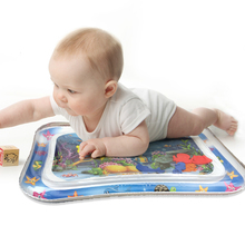 Water-Play-Mat Tummy Time Baby Inflatable Kids Activity Toddler Infant for Fun Center