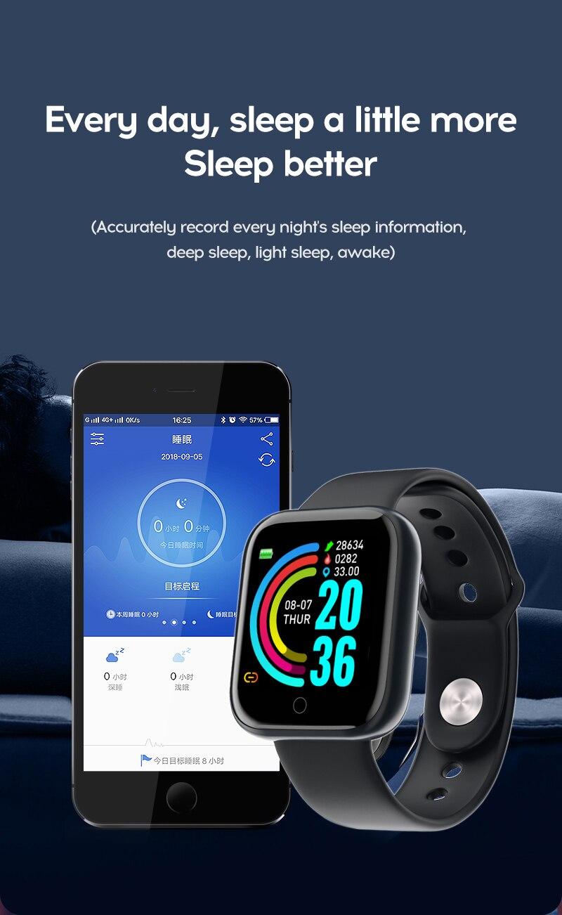 H0cef53f82df5452a9d6579b4c83396a6K Smart Watch Blood Pressure Smartwatch Tracker Heart Rate Fitness