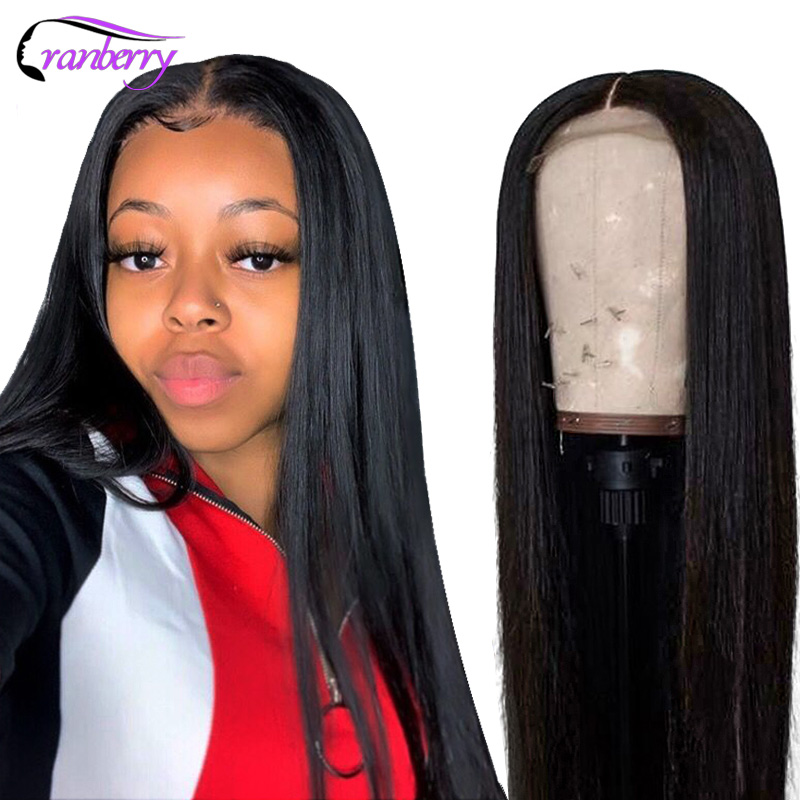 CRANBERRY Straight Lace Front Wig Remy 360 Lace Frontal Wig 13X6 Malaysian 150 180 Density Straight Lace Front Human Hair Wigs