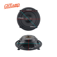 GHXAMP 6.5 inch 178mm Bass Radiator Hoorn Passieve Radiator In Plaats van een omgekeerde buis 2 STUKS