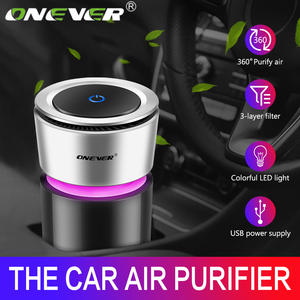 Onever Ionizer Eliminator Air-Freshener Car-Charger Negative-Ions Auto-Mist-Maker 12V