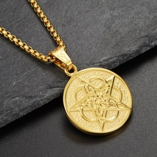 Pentagram Pendant Necklace Stainless Steel Chain Necklaces for Men Gold Color Pentagon Star Necklaces Pendants Jewelry vintage hourglass necklaces men stainless steel unisex necklaces pendants for women necklace jewelry wholesale