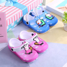 Toddler Crocs Peppa Slippers Baby Girl Boy Garden Hole Shoes Infant Kid Wrap Toe