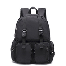 2020 New School Backpacks Women Fashion Shoulder Backbags Travel Backpack Black White Casual Students Bag Big Zipper