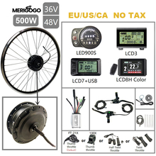Merigo 36V/48V 500W Electric Bicycle Conversion KIt 16''-29'' Brushless Gear Front Hub Motor Wheel