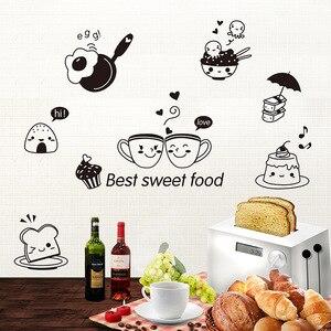 Image 2 - Keuken Muurstickers Koffie Zoete Voedsel Diy Muur Sticker Decoratie Oven Eetzaal Wallpapers Pvc Muurstickers/Adhesive