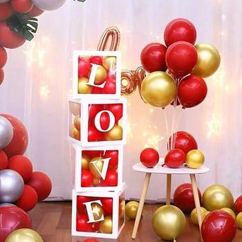 30cm Baby Shower Box Balloon Air Balls First 1 1st Birthday Party Decorations Kids Baloon Ballons Babyshower Wedding Boy Girl 2