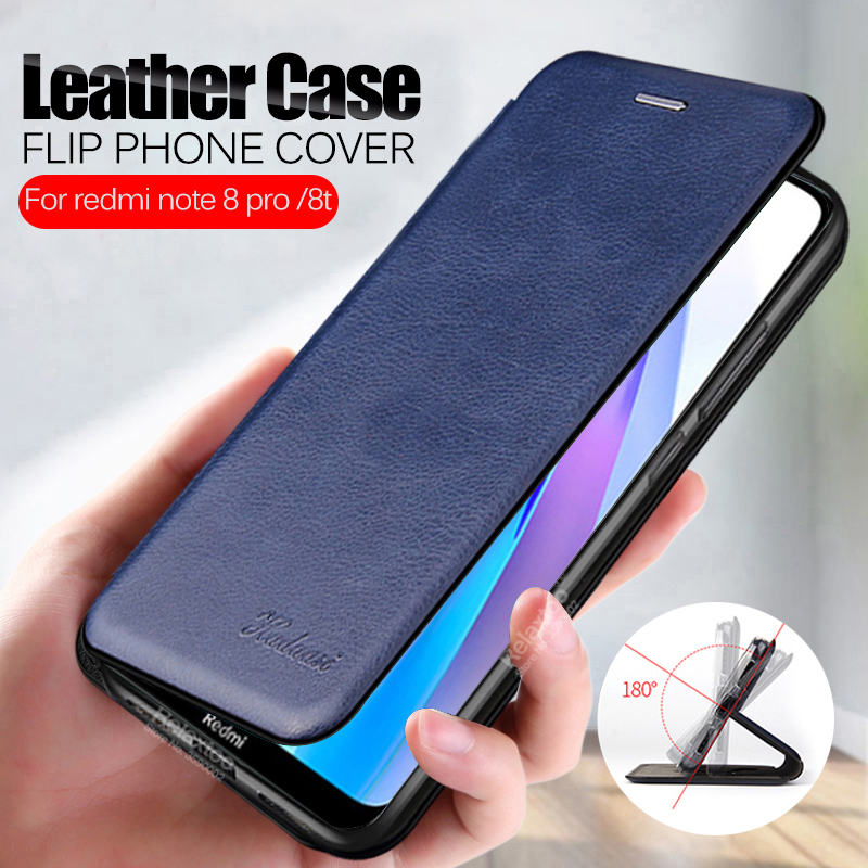 Phone Cover For xiaomi redmi note 8t case Leather Flip Book Wallet Stand Case on xiomi redmi note 8 t note8t t8 note8 pro Coque