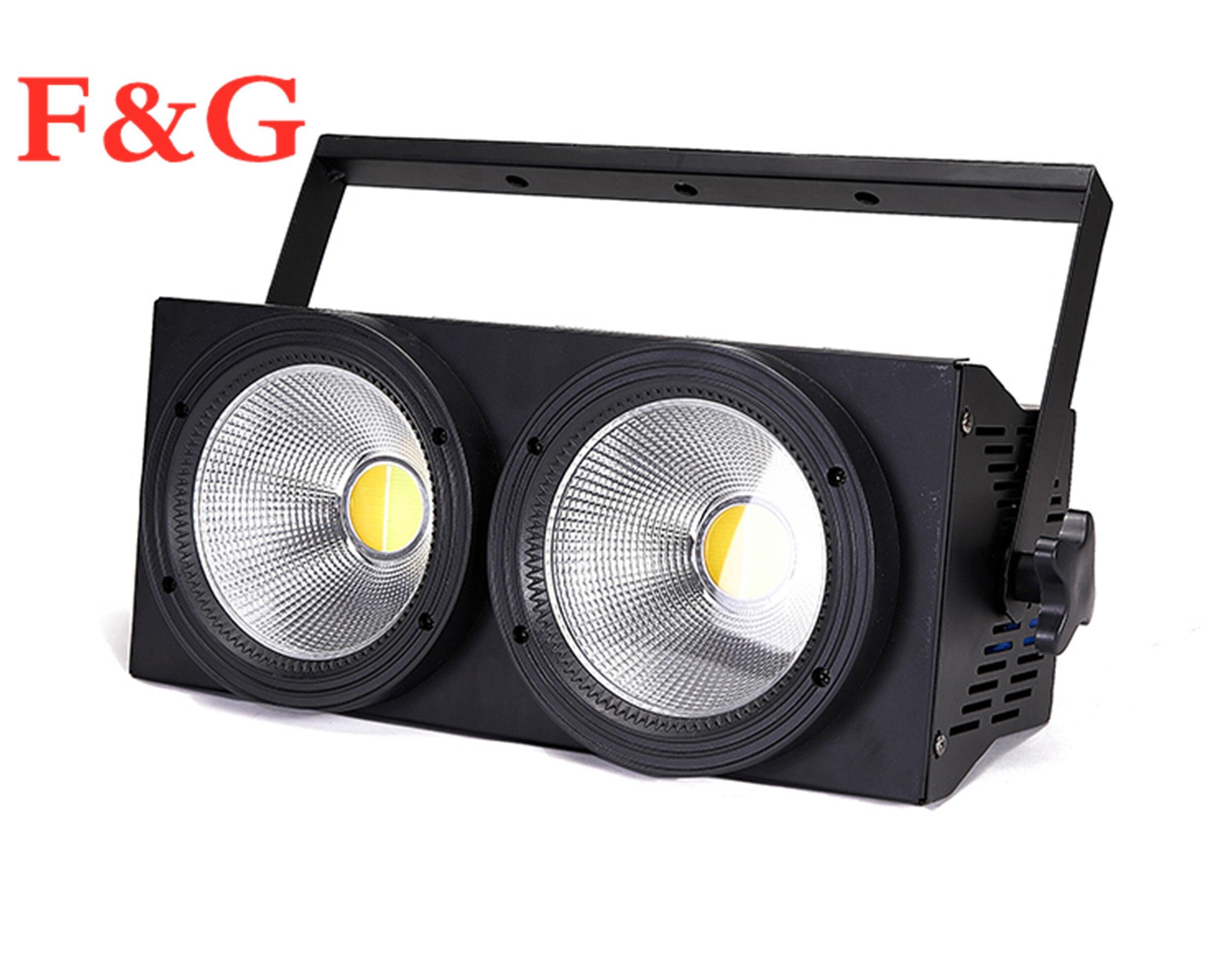 F & GCOB освещение для промывки зрителей 2 глаза прожекторы 2X100 Вт светодиодный матричный Блиндер DMX Par сценическое освещение для диско концерта Dj