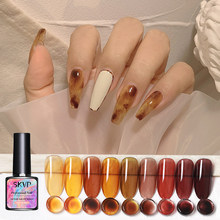 SKVP – vernis à ongles translucide de couleur mate, Gel UV cristal à tremper, Semi-Permanent, 8ML