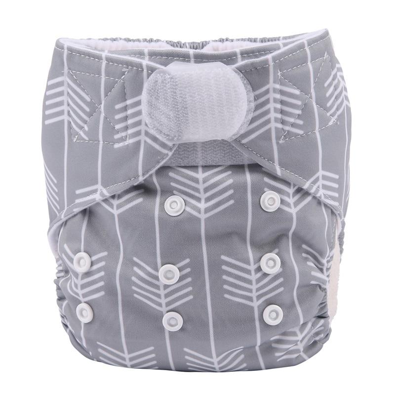 [Sigzagor] 1 тканевый подгузник с карманами для детей, подгузник с застежкой-липучкой, с широкими полосками на талии - Цвет: DV10