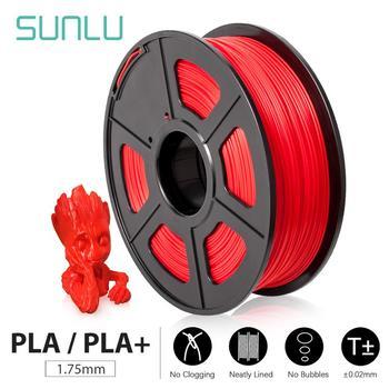 SUNLU 3D Filament drukarki PLA PLA Plus 1 75mm wysokiej jakości Filament PLA niski skurcz materiałów eksploatacyjnych do drukarki 3D i długopisów 3D 1KG tanie i dobre opinie CN (pochodzenie) solid PLA or PLA PLUS + -0 02MM Low shrinkage eco-friendly bright color high strength 205-230 ℃ RoHS Reach