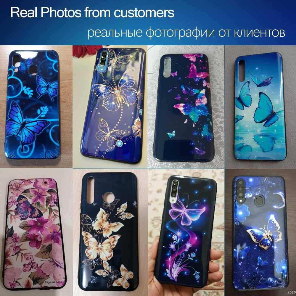 Lucido Per Samsung Galaxy A10 A20 A30 A40 A50 A70 A51 A71 A31 A10S A20S A30S A50S A21S Caso Luminoso copertura