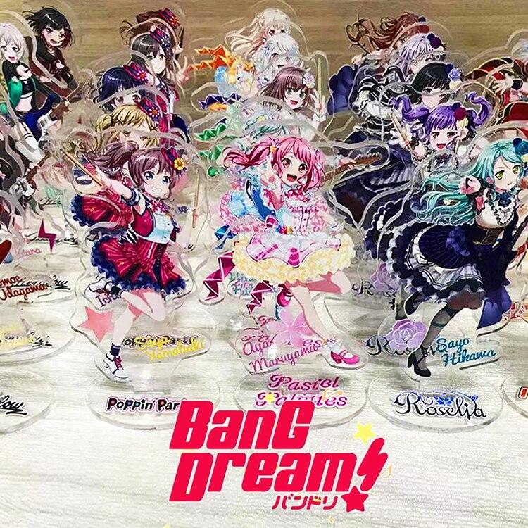 Anime BanG Dream! Toyama Kasumi Rimiri Saya Yamabuki Arisa Ichigaya  Cosplay Acrylic Stand Figure Toy Christmas Gift