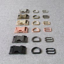 Belt-Buckle Paracord Sewing-Accessory D-Ring-Release Metal-Straps-Slider Pet-Dog-Collar
