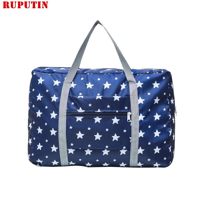 New Nylon Travel Bag Women's Shopping Shoulder Bag Folding Clothes Sorting Bag Portable Luggage Bag Men Travel Storage Organizer