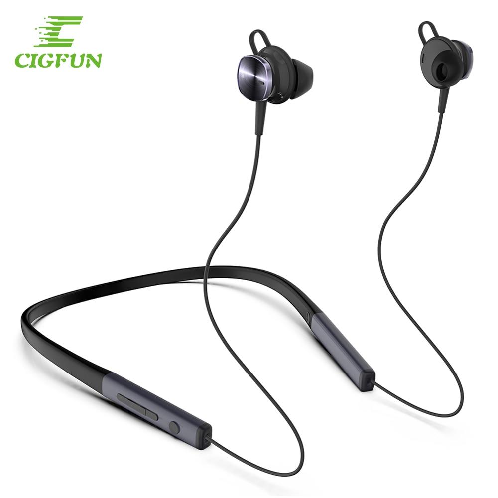 Cigfun Wireless Headset ANC Headphone Bluetooth 5.0 Sport Neckband Headphones With Mic Active Noise Cancelling Headset For Phone|Bluetooth Earphones & Headphones| |  - AliExpress