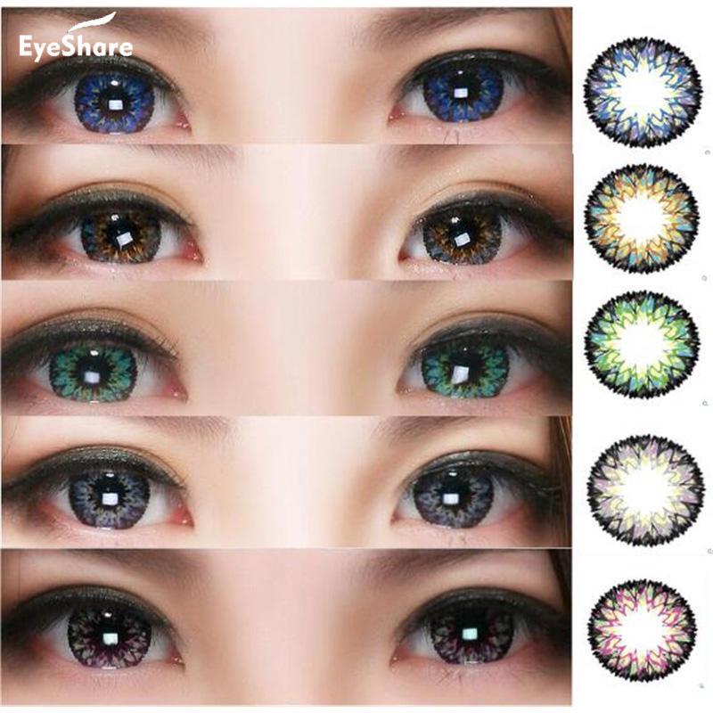Yeux 1 paire MilkShak herbe couleur lentille de Contact cosmétique lentilles de Contact couleur des yeux