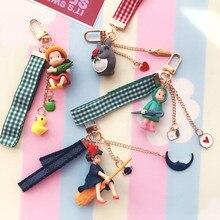 цена на 1 Pc new Kawaii Studio Ghibli Hayao Miyazaki Kiki Keychain bag Pendant figure Toys kids