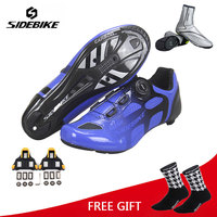 sidebike road cycling shoes Breathable Self Locking Bike Shoes Ultralight Athletic Racing Sneakers Zapatos Ciclismo men women