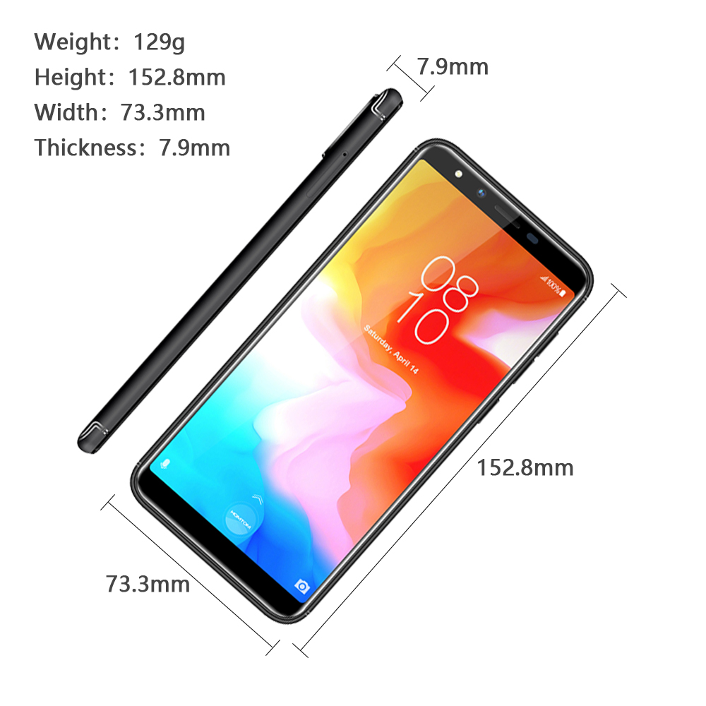 Global version HOMTOM H5 360 OS Android8.1Mobile Phone 3GB+32GB 3300mAh 5.7 Face ID 13MP MT6739 Quad Core 4G FDD LTE Smartphone - 4