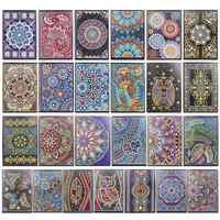 5D bricolage diamant peinture A5 carnet de notes carnet de croquis spécial en forme de Mandala diamant peinture strass livre
