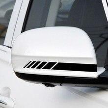 Espelho retrovisor do carro adesivos lado tarja diy decalque para skoda rápida octavia a2 a4 a5 a7 karoq fabia kodiaq tesla modelo 3