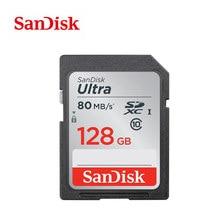 سانديسك الترا 32GB 16GB 64GB 128GB فئة 10 بطاقة SD SDHC SDXC بطاقة الذاكرة C10 80 برميل/الثانية كارت sd دعم التحقق الرسمي