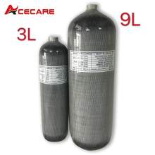 Acecare 3L/9L 30Mpa HPA Compressed Air Tank For Target Shooting/Diving PCP Paintball Carbon Fiber Cylinder M18*1.5 Airsoft/Rifle(China)