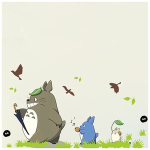 My neighbor funny Totoro cartoon wall decals 3d vinyl mural stickers kids room nursery decoration anime poster 90*60cm 3 styles(China)