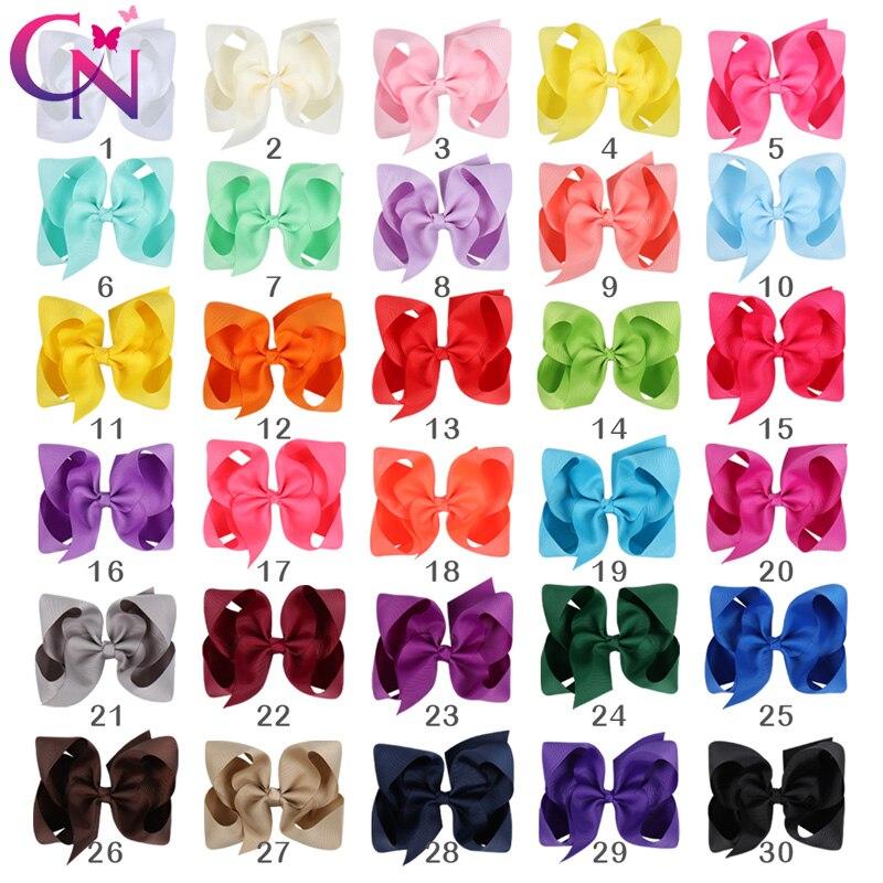 Grosgrain Ribbon Bow Hair Head Clip Pin Aligator Clips Flower Baby//Girl Bling UK