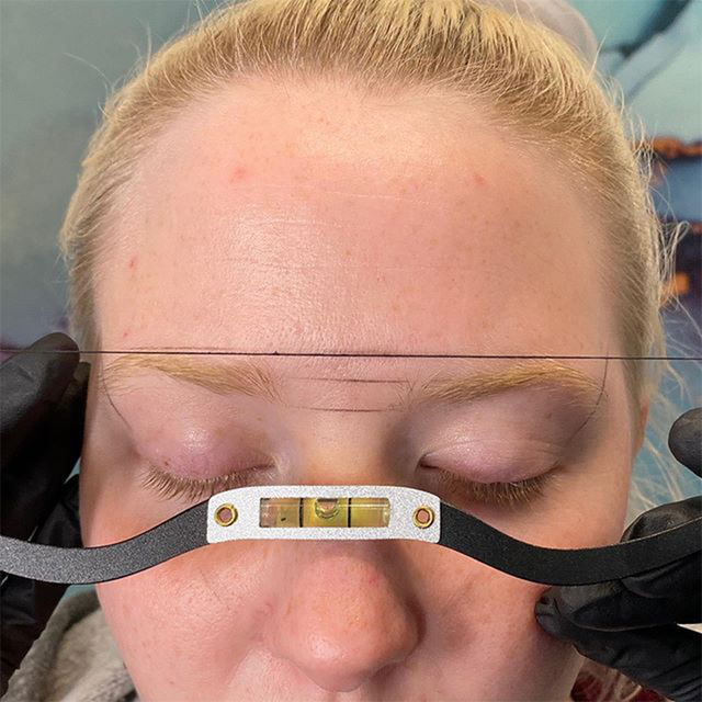 newest Eyebrow ruler microblading Mapping string marker Permanent Makeup microblading supplies with Mapping thread pre-inked 4