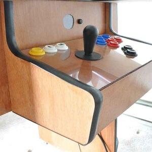 Image 5 - 32.8ft 10m uzunluğu 16mm / 19mm genişlik plastik t kalıplama T kalıplama Arcade MAME oyun makinesi dolap aksesuarları krom/siyah