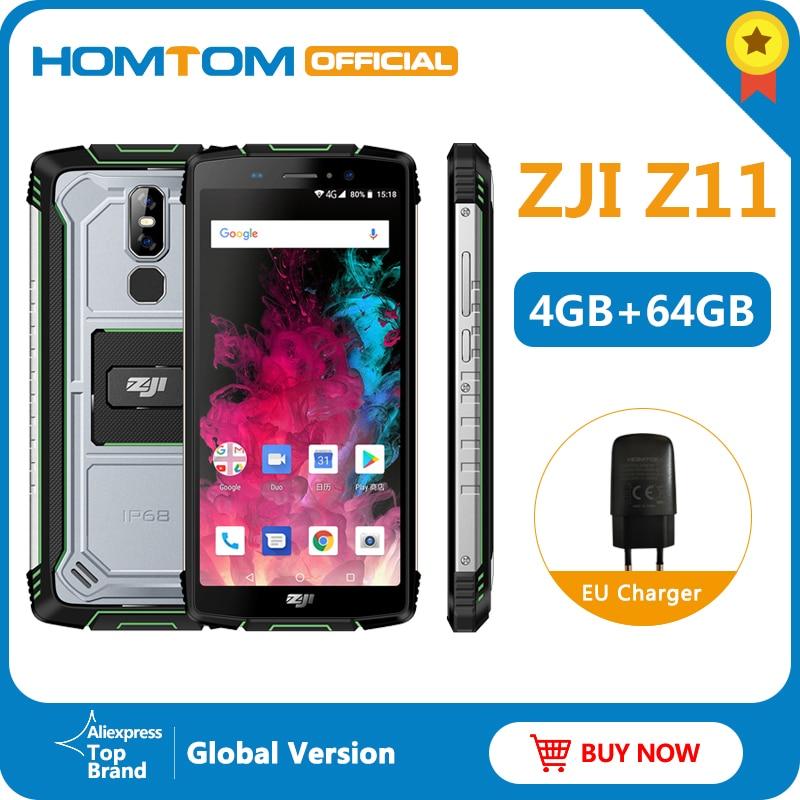 Global Version HOMTOM ZJI Z11 Android 8.1Mobile Phone IP68 5.99 MTK6750T 10000mAh Oversized battery 4GB RAM 64GB ROM Smartphone