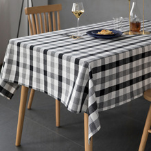 Black White Table Cloth Classic Plaid Tablecloth Christmas Table Decoration Cover Cotton Table Cloth Home Textile