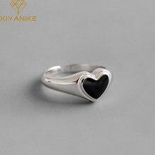XIYANIKE – bague en argent Sterling 925 avec cœur pour femme, anneau en cristal, style rétro, mode, bijoux, ouverture classique, vente en gros