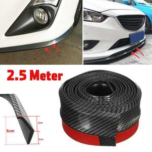 2.5M Car Bumper Lip Stickers Car Front Bumper Lip Rubber Car Bumper Protectors Exterior Mouldings Bumper Lip Strip 65mm Width
