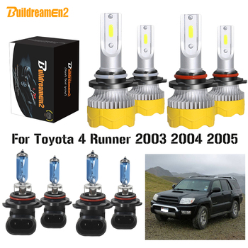 Buildreamen2 4 X Car Headlight High Beam + Low Beam LED Halogen Headlamp Bulb For Toyota 4Runner 4 Runner 2003 2004 2005 image