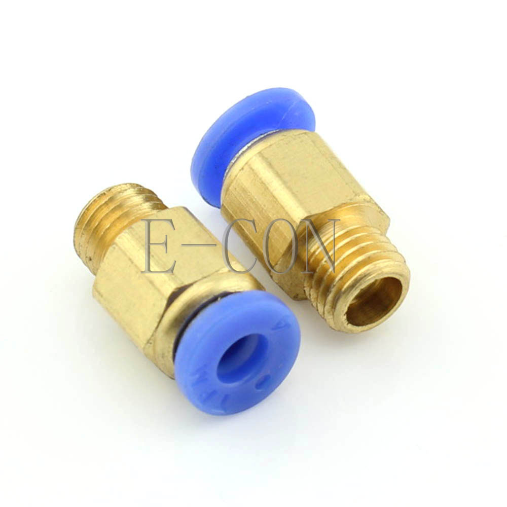 5 Pcs Air Pneumatic Quick Release Connector M8*1.0 Threaded metric 8mm Tube